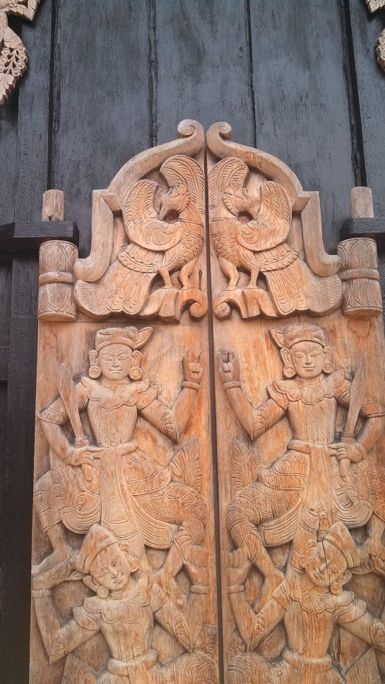 A nicely carved door.